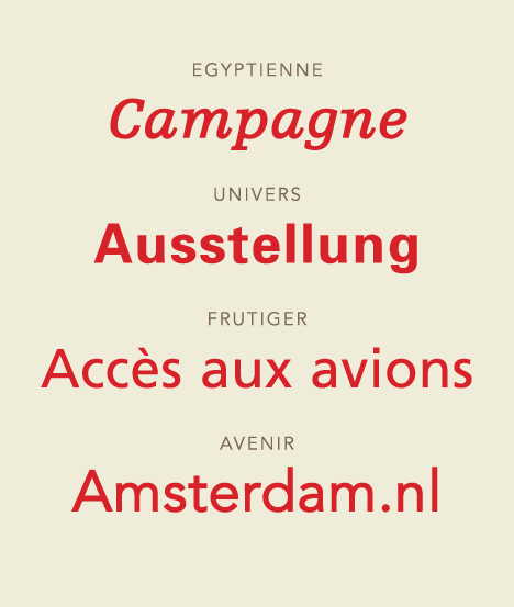 Some Frutiger typefaces