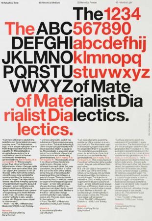 Helvetica text