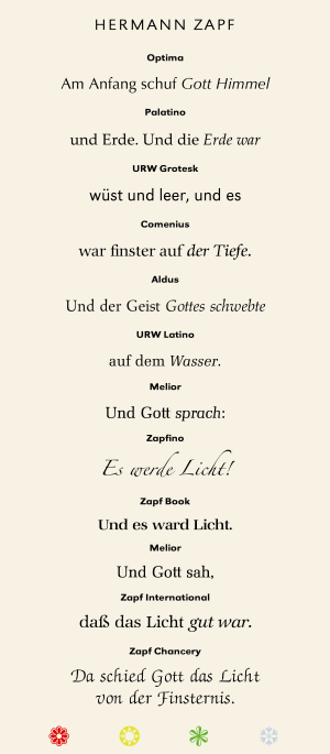 A Zapf fonts sample